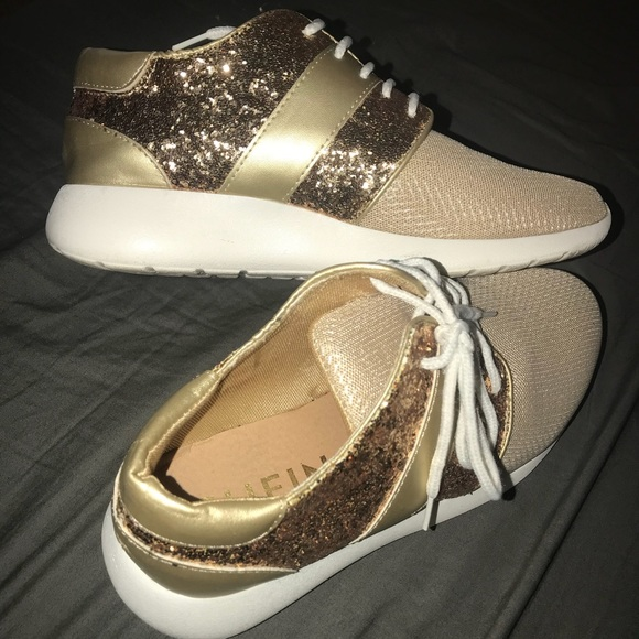 Shein Gold Sparkly Tennis Shoes